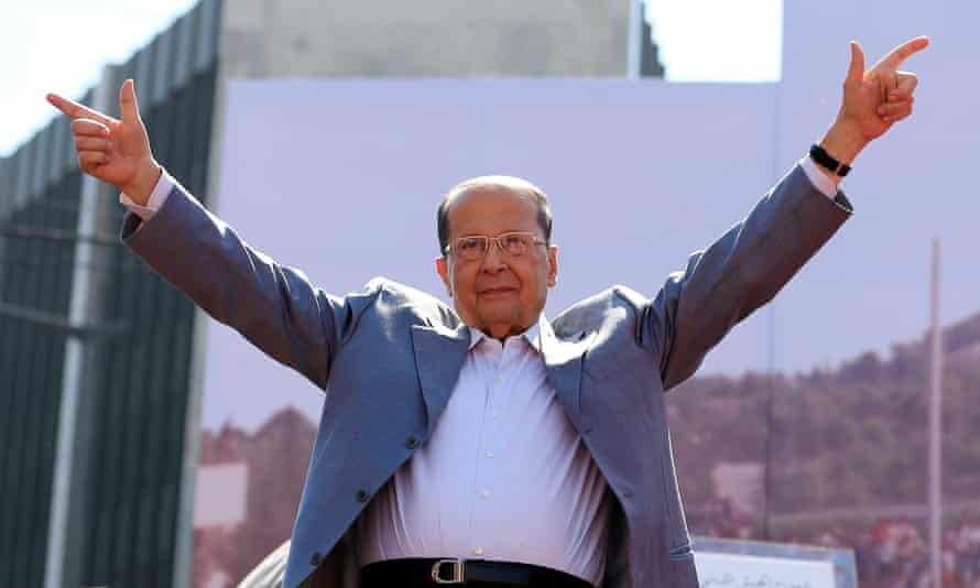 Christian leader Michel Aoun