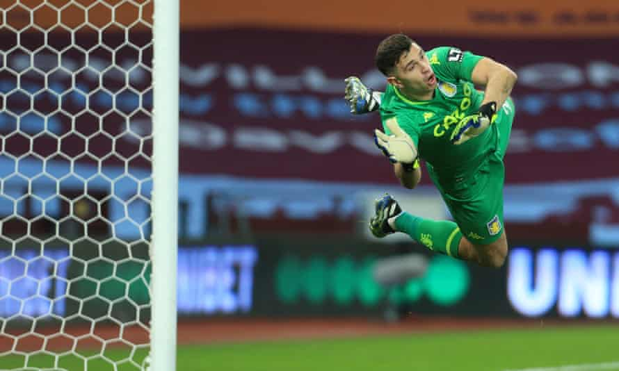 Emi Martínez has been the outstanding goalkeeper in Europe this season.