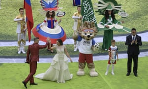 Robbie Williams at the World Cup opening ceremony
