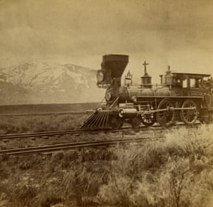 Scene near Deeth. Mount Halleck in Distance, ca. 1869, (half of a stereograph)