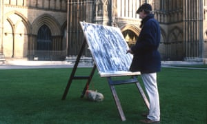 Dennis Creffield drawing Peterborough Cathedral.
