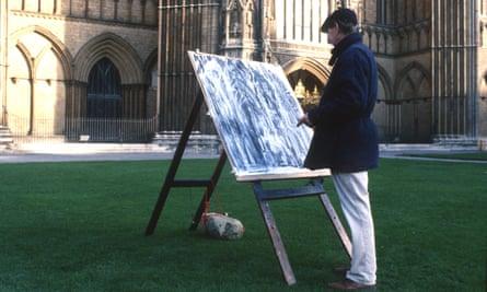 Dennis Creffield drawing Peterborough Cathedral.