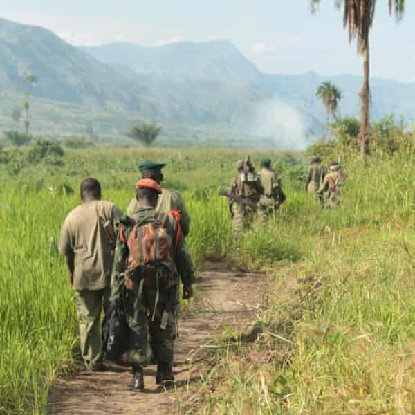 Katembo leads a counter-poaching operation in Virunga's central sector.