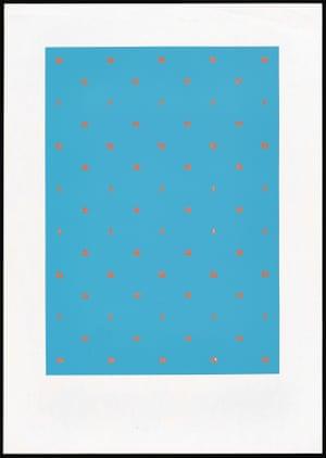 Acrobats 1964 Ian Hamilton Finlay (Scottish, 1925–2006) Screen print Publisher: Tarasque Press, 1968