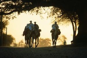 Zaghawa nomads in El Fasher in 1983