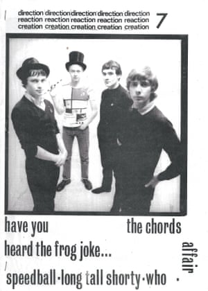 Direction Reaction Creation, edited by Jon Obidiah and created in 1979. Issue 7 features a cover photograph of revered mod band The Chords.