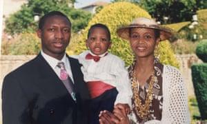 Edson Da Costa as a child (centre) flanked by his father Ginario Da Costa and mother Manuela Araujo.