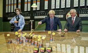 Boris Johnson and Jacek Czaputowicz at the Battle Of Britain Bunker in Uxbridge, west London.