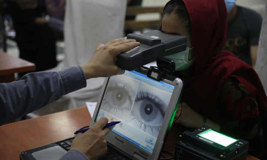 Biometric data is required to apply for a passport in Kabul, Afghanistan.