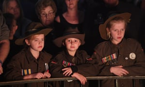 Crowds gather during the Dawn Service at the Shrine of Remembrance in Melbourne, Wednesday, April 25, 2018.