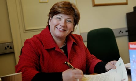 Emily Thornberry MP at work in her office in her Islington constituency.