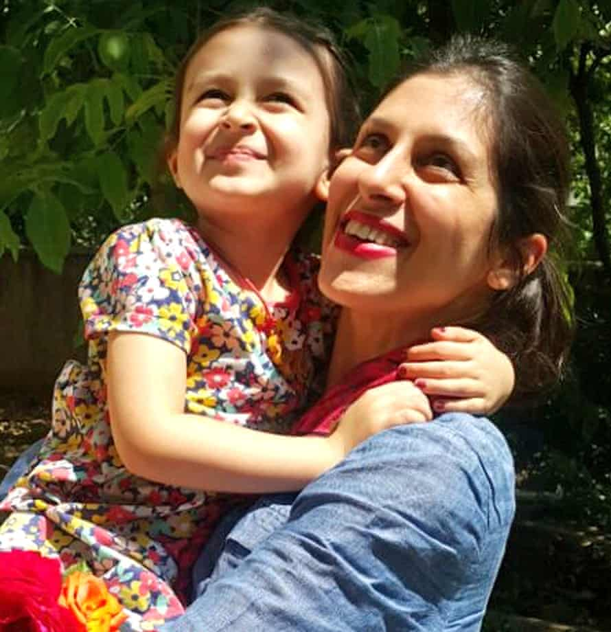 Nazanin Zaghari-Ratcliffe and Gabriella during a temporary release from prison in Iran in August 2018.
