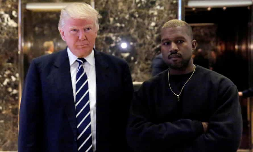 Donald Trump and Kanye West at Trump Tower in December.