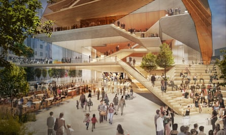 Plans for the foyer of London's Centre for Music.