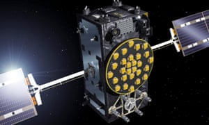 An artist's view of a Galileo Full Operational Capability (FOC) satellite released by the European Space Agency