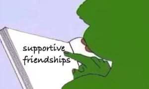 Pepe the frog as envisaged as a 'wholesome meme' from Tumblr.