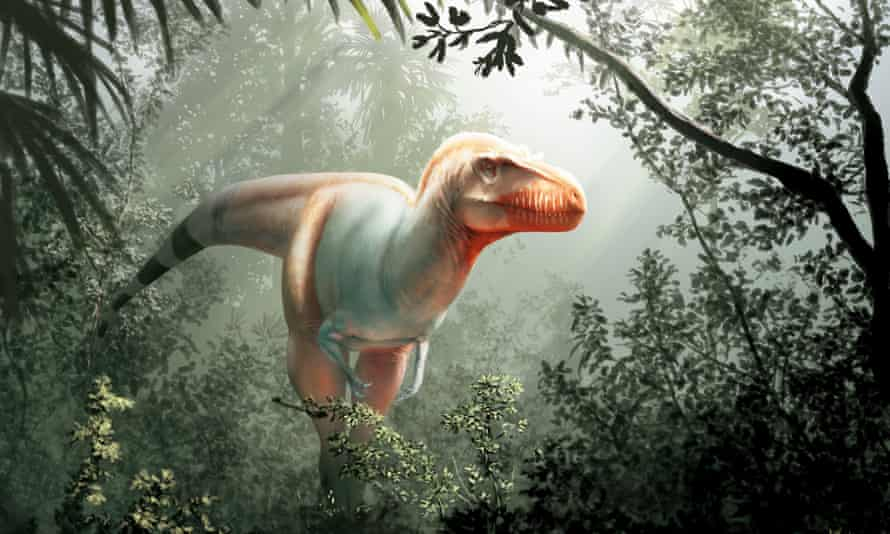 A handout photo from the University of Calgary and Royal Tyrrell Museum shows san artist's impression of the newly discovered species.