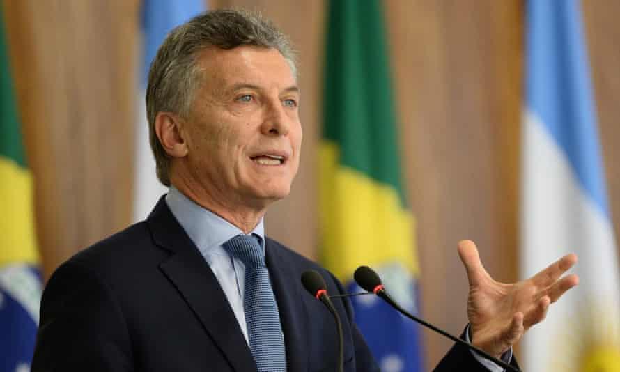 The executive order has drawn comparison between President Macri and Donald Trump.