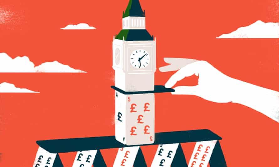 Illustration by Sebastian Thibault on Britain as mafia state