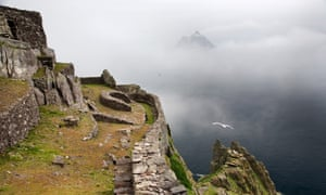 An early Christian monastic outpost on Skellig Michael Island, Ireland.