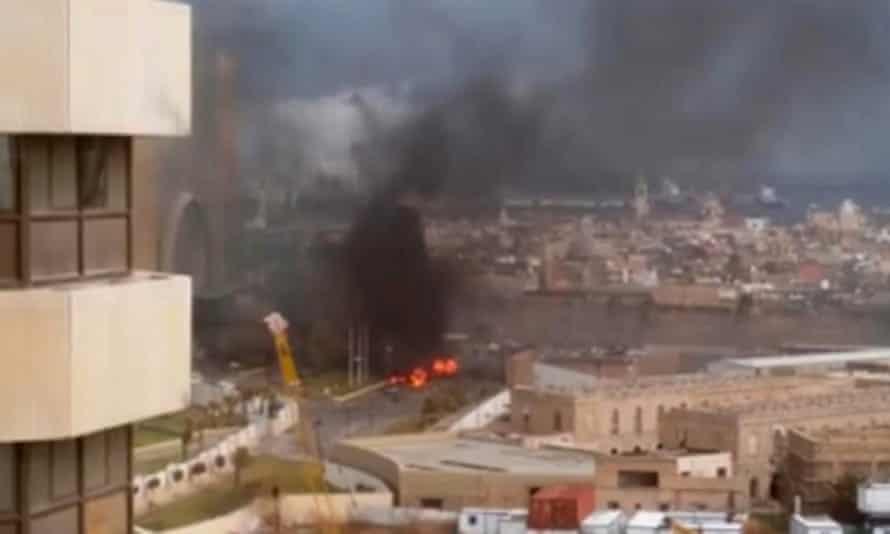 The Corinthia hotel comes under attack in Tripoli.