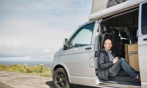 Wyl Menmuir in his campervan