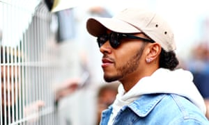 Lewis Hamilton in the paddock yesterday ahead of this weekend's Monaco Grand Prix