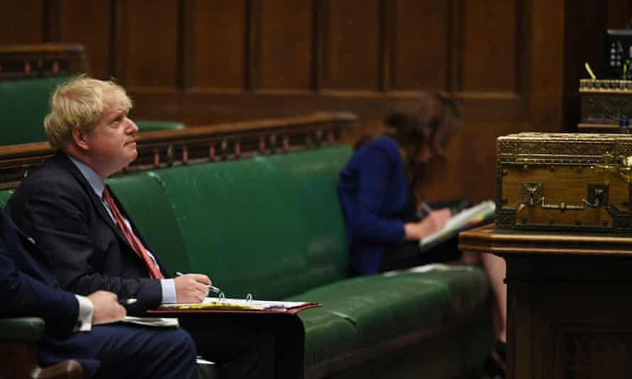 Boris Johnson during Prime Minister's Questions, Wednesday 15 July.