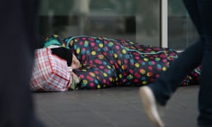 The number of 16- to 25-year-olds sleeping rough in London has 47% in 2020.