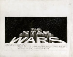 Star Wars (1977) The first drawing of the roll-up that opens the film, drawn by Alex Tavoularis. This was inspired by the roll-ups that open the old Flash Gordon movie serials of the 1930s