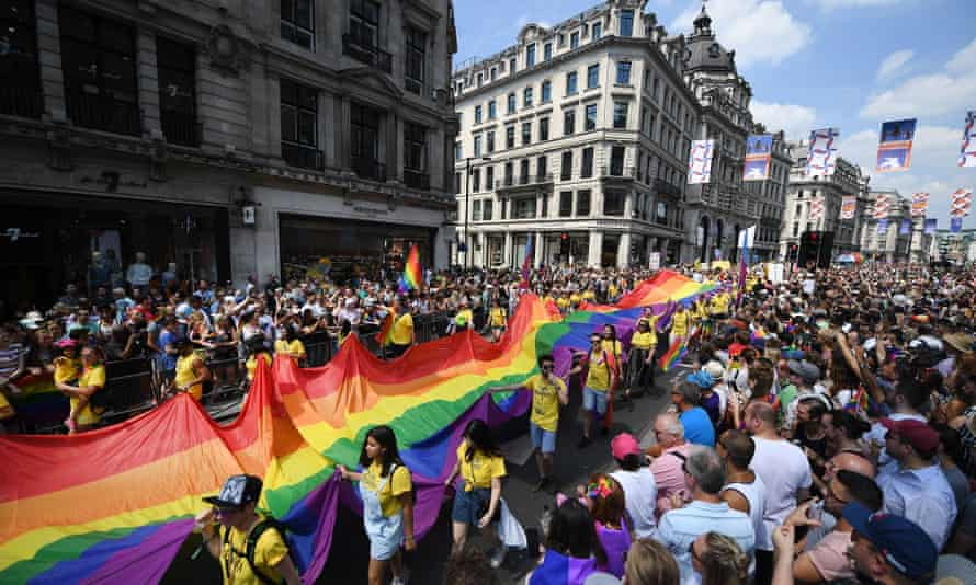 The London Pride parade in 2018
