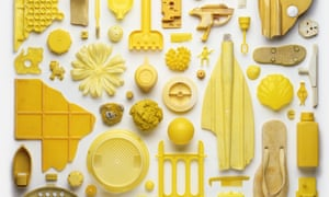 Mellow yellow: a detail from one of Stuart Haygarth's artworks, from the new book Strand.