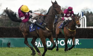 Ruby Walsh is unable to stay united with Valseur Lido just after the last fence while in the lead in the Irish Gold Cup