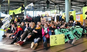 Climate protesters at Schiphol airport