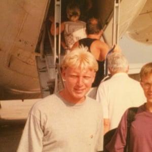 Boris Becker lookalike Antony T at Alicante airport.