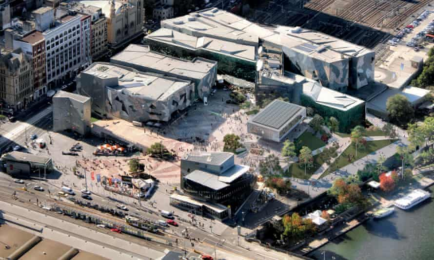 A crowdfunding campaign aims to raise $40m to buy the Yarra Building in Melbourne's Federation Square to protect it from demolition for an Apple store