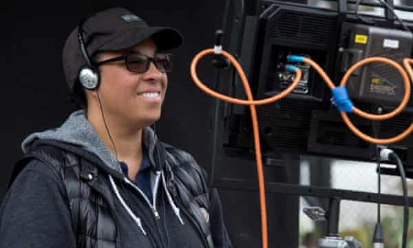 Director Angela Robinson on set.