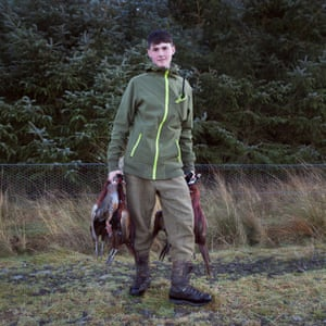 Logan, from Edinburgh, holding pheasants