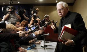 Cardinal Bernard Law at a conference in 2002.