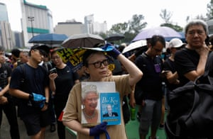 The protesters are demanding a complete withdrawal of the controversial extradition bill that was suspended by Hong Kong's chief executive, Carrie Lam