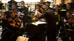 Vladimir Jurowski and London Philharmonic Orchestra performing Das Rheingold at the Royal Festival Hall.