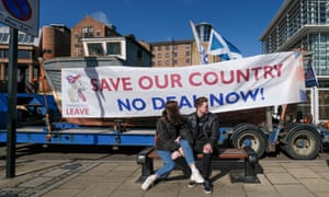 A Fishing for Leave protest in Newcastle, March 2019