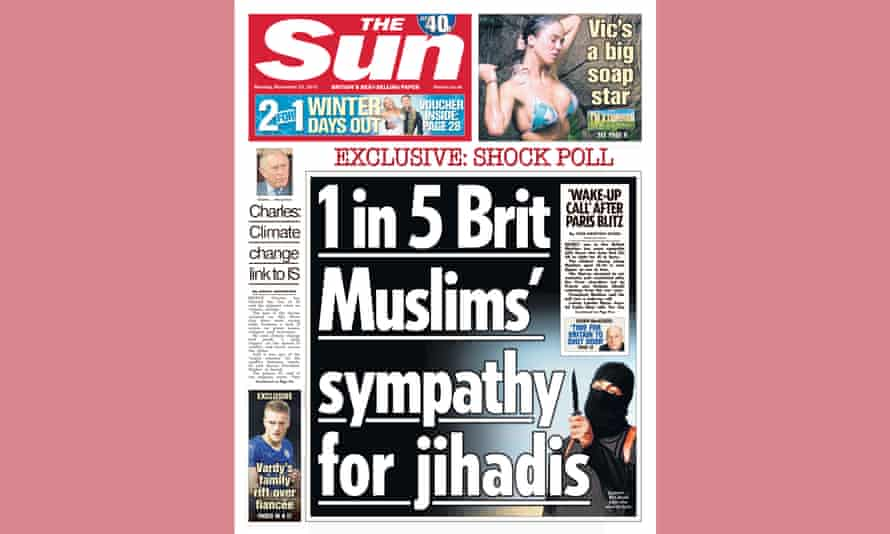 The Sun front page.
