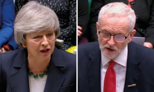 May and Corbyn Prime Minister's Question Time