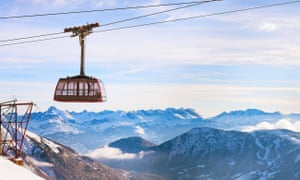 Views from Europe's highest cable car.