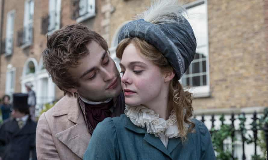 Zapping life into words … Douglas Booth and Elle Fanning in Mary Shelley.