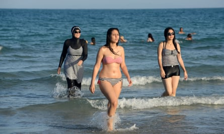 It's a cover-up … Tunisian women at Ghar al Melh beach near Bizerte, north-east of Tunis
