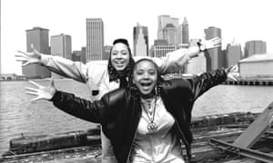 Debbie Pryce and Suzie Banfield of Cookie Crew in 1989.