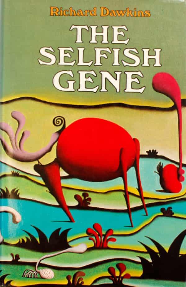 The original Selfish Gene book cover, illustrated by Desmond Morris