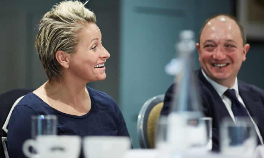 Sam White and Jon Meeten at the Guardian roundtable in Manchester.
